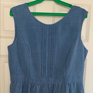 Ellen Tracy Chambray Shift Dress